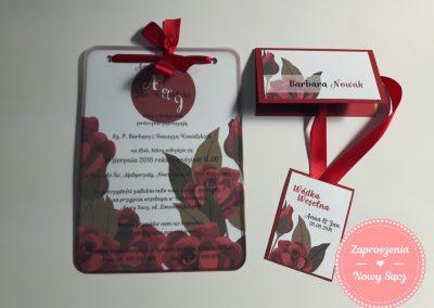 WZÓR K8 - Kalka czerwone róże