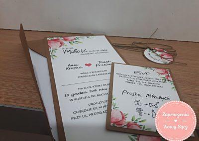 WZÓR EK21 - DL polne kwiaty + koperta z wkładką