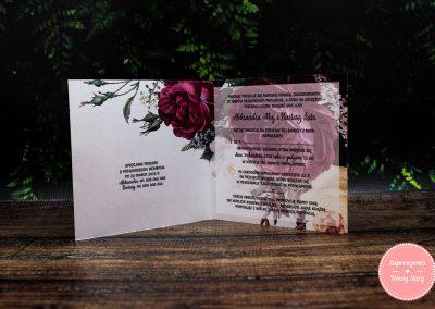 WZÓR P13 – Bordowe róże