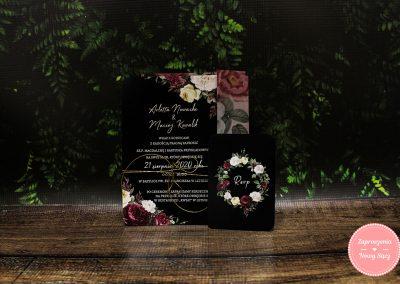 WZÓR K16 – Black floral