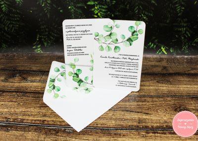WZÓR G6 – Eukaliptus karty z wklejką