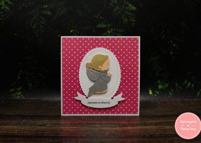 WZÓR 3D10 - Aniołek kropeczki (dziewczynka)