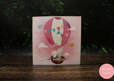 WZÓR J15 - Różowy balon