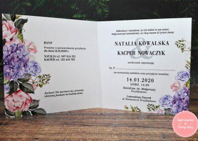 WZÓR K30 - Hortensje i róże