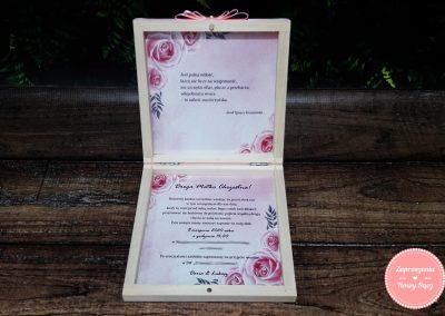 """Zaproszenia dla rodziców w pudełku """"Geometryczne róże"""""""