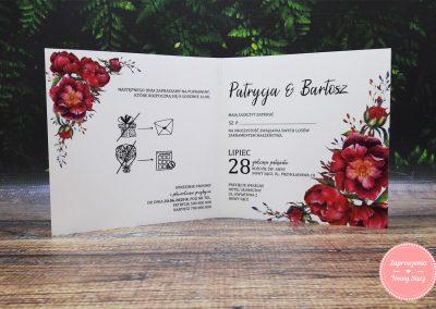 WZÓR P61 - Pink peonies