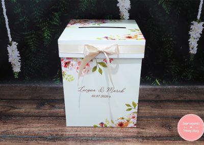 "Kartonowe pudełko na koperty ""Herbaciane róże"""