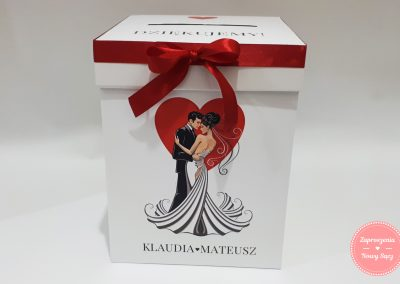 "Kartonowe pudełko na koperty ""Para z sercem 2021"""