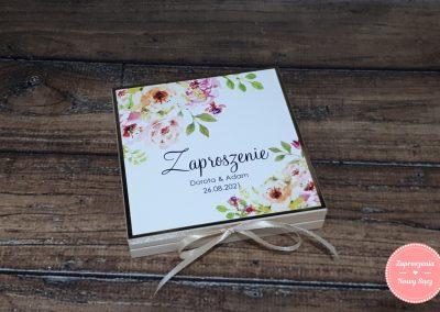 """Zaproszenia dla rodziców w pudełku """"Herbaciane róże"""""""