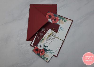 WZÓR K42 - Anemone (czerwone)