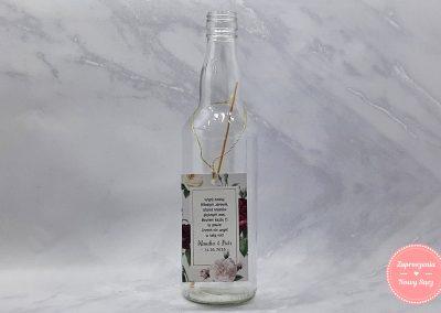 ZAWIESZKA PROSTOKĄTNA - Bordowe róże z kokardą