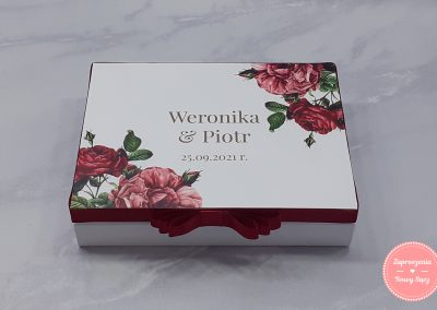 """Pudełko na obrączki """"Różane ornamenty"""""""